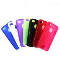 "iPhone 4/4S : Lot de 7 Etuis gel couleurs design ""S"" - accessoire"