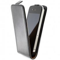 iPhone 4 / 4S : Etui noir simili cuir - accessoire