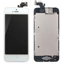 iPhone 5 : Complet Ecran Blanc Vitre + LCD + Caméra + Home assemblé - pièce détachée