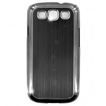 Samsung Galaxy S3 et S3 4G : coque noire brossé - accessoire