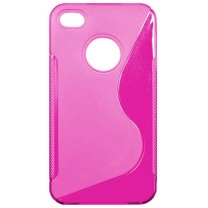 "iPhone 4/4S : Etui gel Fuchsia design ""S"""