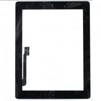 iPad 3 : Complet : Vitre tactile noire avec bouton home