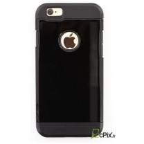 iPhone 6 / 6S : coque antichoc Noire LAK Design souple et rigide