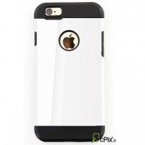 iPhone 6 / 6S : coque antichoc Noire et Blanche LAK Design souple et rigide