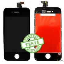 iPhone 4 : Ecran Noir LCD et vitre tactile assemblés - pièce détachée