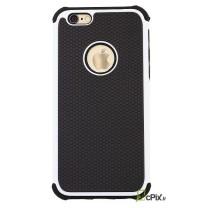 iPhone 6 / 6S : coque antichoc Blanche et noire ALV Design souple et rigide