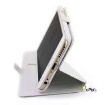 iPhone 6 / 6S : Eui stand porte cartes blanc à rabat