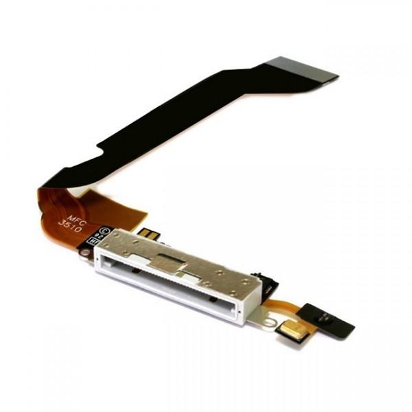 connecteur de charge blanc avec micro pour iphone 4s apple. Black Bedroom Furniture Sets. Home Design Ideas