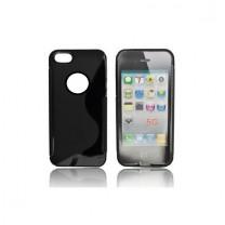 """iPhone 5 / 5S / SE : Etui gel noir design """"S"""" - accessoire"""
