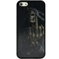 iPhone 5 / 5S / SE : Coque noire rigide 3D V562