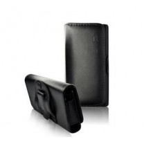 iPhone 5 Etui simili cuir noir clip ceinture