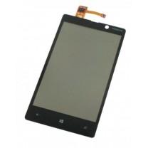Nokia Lumia 820 : Vitre tactile noire SEULE - pièce détachée