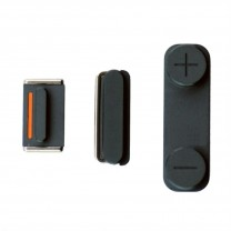 iPhone 5 : Lot 3 boutons noirs volume power mute - pièce détachée
