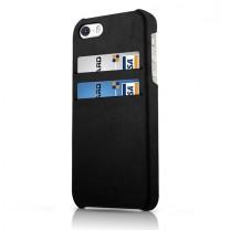 iPhone 5 / 5S : Coque noire porte CB iTskins