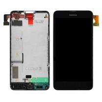Nokia Lumia 630 / 635 : Complet tactile noire + écran LCD - pièce détachée