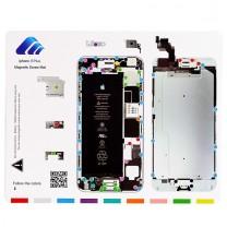 iPhone 6 Plus : Tapis gabarit magnétique pour démontage des vis