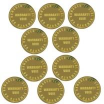 Lot de 10 Stickers de Garantie - WARRANTY VOID