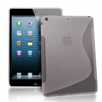 iPad Mini : Etui gel gris transparent type S