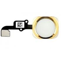 iPhone 6 et 6Plus : Bouton home Or (Gold) avec Nappe home - pièce détachée