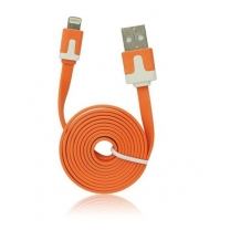 Câble iPhone lightning plat Orange - accessoire