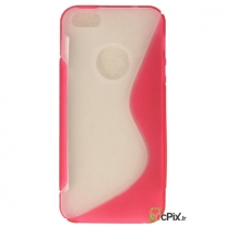 iPhone 5 / 5S / SE : Etui gel Fuchsia et transparente
