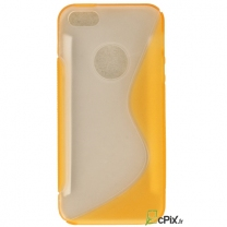 iPhone 5S : étui Tpu souple transparent jaune