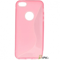 iPhone 5S : étui Tpu souple transparent fuschia