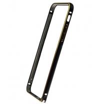 iPhone 6 et 6S - bumper aluminium Noir/ Or (Gold)