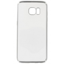 Galaxy S7 EDGE SM-G935F : Coque gel souple transparente / argent
