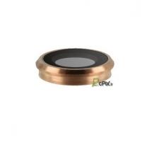 iPhone 6S : lentille verre avec bague or rose caméra arrière
