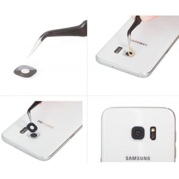 galaxy s7 et s7 edge lentille appareil photo arri re noir. Black Bedroom Furniture Sets. Home Design Ideas