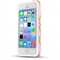IPhone 5C : Bumper ITSKINS à double protection Blanc / Rose