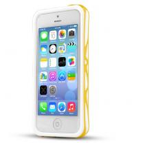 IPhone 5C : Bumper à double protection Blanc / Jaune ITSKINS