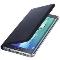 Galaxy S6 EDGE SM-G925F : Etui rabat Original Flip Wallet Samsung Noir