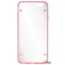 iPhone 6 / 6S : coque bumper transparent et rose - accessoire
