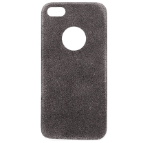 iPhone 5, 5S, SE : Coque souple grise à paillette