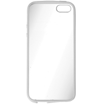 IPHONE 5 / 5S / SE : Coque rigide transparente et blanche