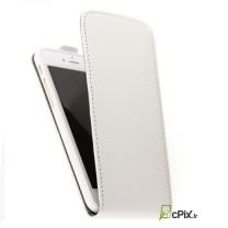 iPhone 7 Plus : Etui rabat blanc simili cuir - accessoire
