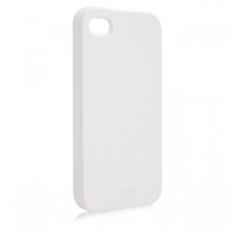 iPhone 4 et 4S : Coque blanche souple silicone gel