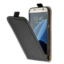 Galaxy S3 et S3 4G : Housse de protection simili cuir Noir à clapet