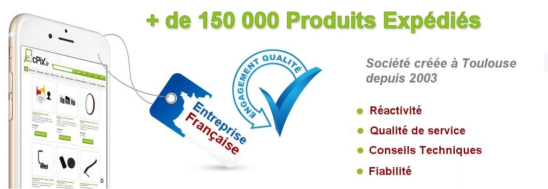 Déjà plus de 150 000 pièces détachées smartphone et tablettes vendus par cPix.fr : qualité, prix, service depuis 2003 !