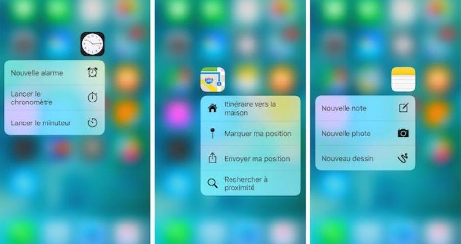 Fonction 3D Touch sur votre iPhone.
