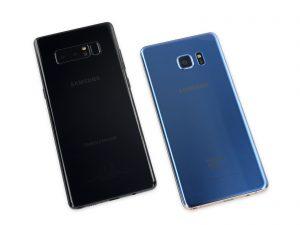 Vue arrière du Samsung Galaxy Note 8 réparation pour Galaxy Note8