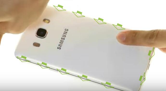 Refermer le cache arrière du Galaxy J5 2016