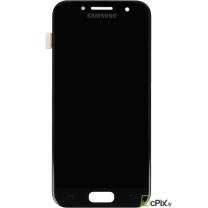 Galaxy A3 (2017) SM-A320F : Vitre Ecran complet Noir - Officiel Samsung