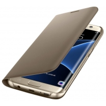 Galaxy S7 EDGE SM-G935F : Etui Flip Or gold original Samsung