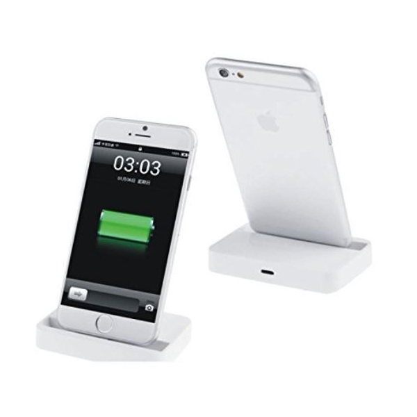 iphone station d 39 accueil socle de charge lightning blanc grossiste. Black Bedroom Furniture Sets. Home Design Ideas