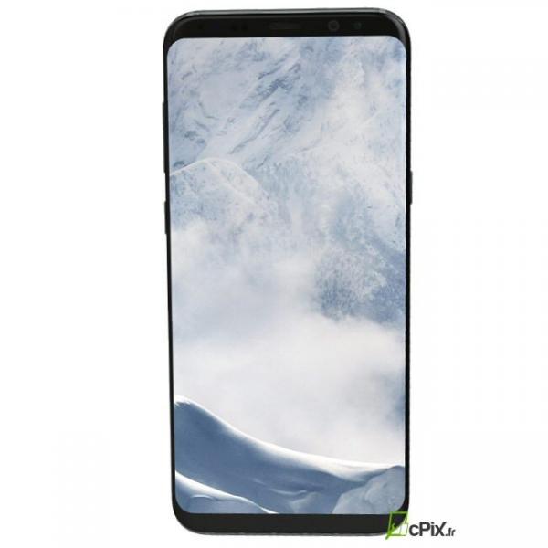 Vue de face de l'écran avec son châssis argent polaire Samsung Galaxy S8 SM-G950F