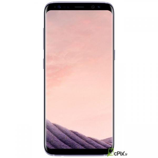 Vue de face de l'écran avec son châssis couleur orchidée Samsung Galaxy S8 SM-G950F