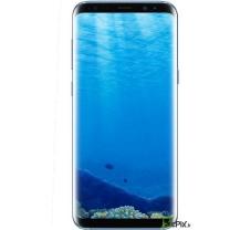 Vue de face de l'écran avec son châssis bleu corail Samsung Galaxy S8 SM-G950F